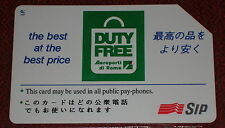 DUTY FREE THE BEST AT THE BEST PRICE ( G. PRP 170 ) SCHEDA TELEFONICA SIP USATA