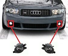 FOR AUDI A4 B6 VOLVO C30 S40 V50 FRONT BUMPER FOG LIGHT LAMP H11 CLEAR PAIR