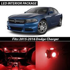 2015-2016 Dodge Charger Red Interior LED Lights Package Kit