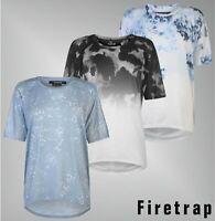 Señoras marca Firetrap Mangas Cortas Escote Redondo Batwing Camiseta Talla 8-18 STYLIS