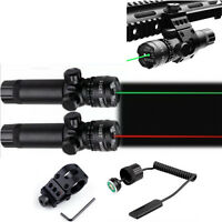 Tactical Adjustable Green/Red Laser Sight Rifle Dot Scope 980FT WPicatinny Mount