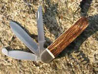 Herbertz Jagd-Taschenmesser Jagdmesser Messer Hirschhorn Klappmesser 299010
