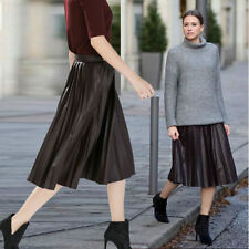 Zara Calf Length Faux Leather Skirts for Women