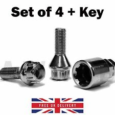 m12 x 1.25 LOCKING LOCK BOLTS CITROEN PEUGEOT FIAT ALLOY WHEELS RIMS 27mm THREAD