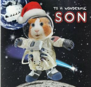 'SON' QUALITY CHRISTMAS GREETING CARD BY TRACKS - GOGGLE EYES - FREE P&P