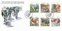 NZFD535) NZ 1997 Cattle Of NZ Stamp Issue FDC