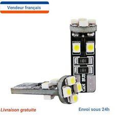 2 Veilleuse LED W5W T10 Canbus odb BLANC XENON 6000k 8 LED 12V