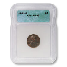 USA Lincoln Wheat Cent 1c 1931 S ICG Very Fine Key Date Penny