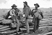 New 5x7 Civil War Photo: Confederate Prisoners at Gettysburg