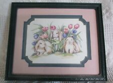 Framed & Matted Bunny Picture By Laurie Korsgaden, Signed