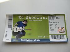 ED SHEERAN  LONDON  11/07/2015  OLD TICKET STUB