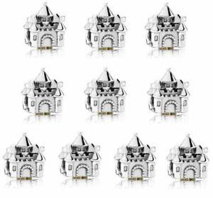 10pcs European Silver Charm Bead SUIT Bracelet Necklace Pendant Chain