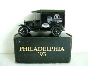 MATCHBOX MB44 - 1921 FORD MODEL T VAN - PHILADELPHIA 1993 - MICA NORTH AMERICA