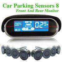 LCD Display Car Parking Sensor 8 Rear Front View Reverse Backup Radar System Kit