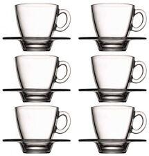 12tlg. Set Kaffeetassen mit Unterteller Aqua Teetassen Cappuccinotassen