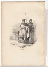 Charles Martel ANTIQUE PRINT 1848
