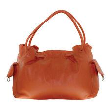 CENZONI genuine leather large handbag  - Orange