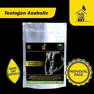 Testogen Anabolic Capsules, Testosteron, Muscle & Libido Booster, 100% Natural