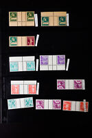 Switzerland Tete-Beche Stamp Lot