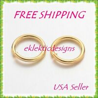 10mm 18gauge 50pcs BRASS Gold Plated Open Jump Rings Findings FREE SHIPPING