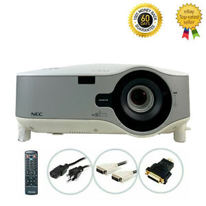 NEC NP3250W 3LCD Projector 4000 Lumens Wireless HD 1080i HDMI-adapter bundle