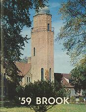 """1959 CRANBROOK SCHOOL """"BROOK"""" YEARBOOK (BLOOMFIELD HILLS, MI, SCOTT ROMNEY)"""