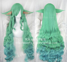 COS Game League of Legends LOL Soraka Star Guardian Cosplay Long Hair Wig+Ears
