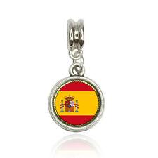 Flag of Spain Euro European Italian Style Bracelet Bead Charm