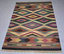 Accent Cotton Kilim Rug Home Decor Hand Woven 4x6 Feet Retro Rug