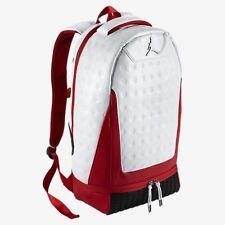 Nike Air Jordan Retro 13 XIII Kids Backpack Bag White Black And Red 9A1898 001