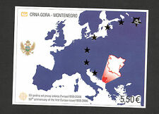 MONTENEGRO - MNH**  IMPERFORATED BLOCK WITH STARS - 50 years EUROPA CEPT-2006.