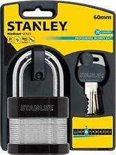 Stanley Lucchetto laminato con Arco Standard alta sicurezza 60 mm per Garage