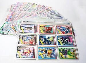 1990 Impel Marvel Comics Super Heroes 162 Trading Card Set - Stan Lee No Holos