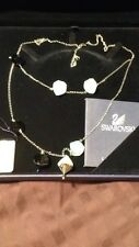 Swarovski Whop Blue And White Crystal Necklace - Retail $340