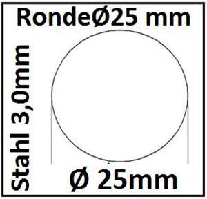 Stahl Ronde Ø25x6mm 0Loch Ankerplatte Fußplatte 1425  SR25/0/6,0 mm  taurusShop2