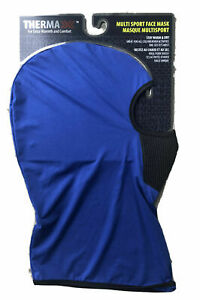 Adult Therma XXX Thermal Multi Sport Face Neck Mask Black Navy Royal Blue