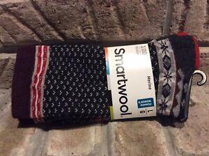 Smartwool Crew Socks Multicolor Merino Wool Blend Women's Size Large
