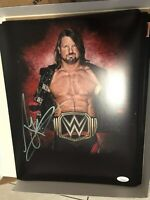 AJ Styles Signed 11x14 Photo Edit Authentic WWE WWF Autograph JSA