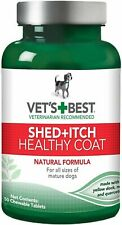 Vet's Best Healthy Coat Shed & Itch Relief Dog Supplement    Free Shipping