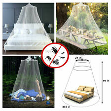 Mosquito Net for Bed Queen Size 99 x 335 In Canopy Netting Dome Curtains White
