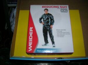 Vtg Weider Vinyl Reducing Suit New