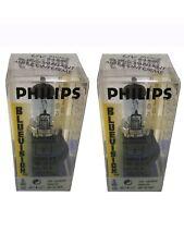 2 Philips Blue Vision 9004 BV Headlight Bulb Headlamp Lamp Blue Halogen Lights