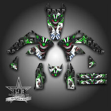KAWASAKI KX450F KXF 450 2006 - 2008 GRAPHICS KIT DECALS EVIL JOKER BLACK GREEN