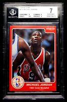 1984 Michael Jordan Rookie BGS 7 NEAR MINT Star #195 -1984 Gold Medalist - Bulls