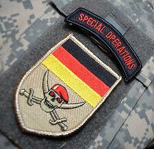 Kommando Spezialkräfte KSK SSI: Bundeswehr SP OPS RED BERET CALICO JACK SKULL
