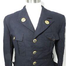 Vintage American Legion Wool Dress Uniform Jacket Wisconsin Navy Blue Gold