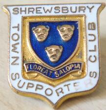 Shrewsbury Town Vintage insignia del club de seguidores Broche Pin En Dorado 22mm X 23mm