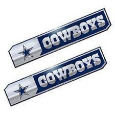 Licensed NFL Dallas Cowboys Premium Aluminum Auto Truck Edition Emblem 2pc