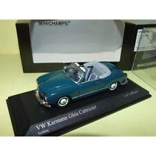 VW KARMANN GHIA CABRIOLET 1957 Bleu Seeblau MINICHAMPS 1:43