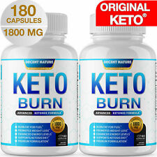 Keto X BURN Diet Pills 1800 MG (TWO BOTTLES) Weight Loss Ketosis Fat Burner Carb